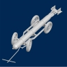 Italian WWII Torpedo with trolley (type 1)