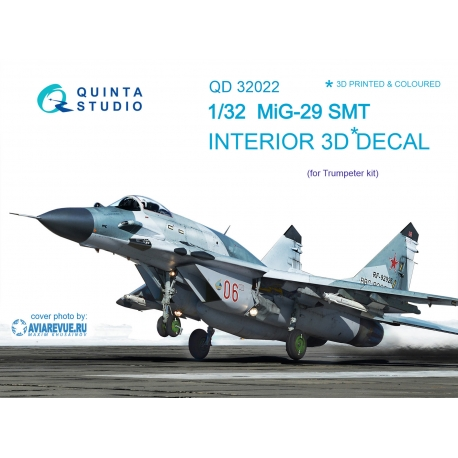 MiG-29SMT 3D-Printed & coloured Interior on decal paper (for Trumpeter kit)
