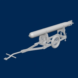 Italian WWII Torpedo with trolley (type 2)