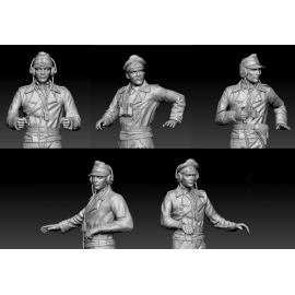 Set of 5 German Tank Commanders