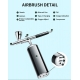 Integrated portable airbrush set (0.3 mm nozzle)