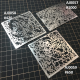 Stainless steel effect masks