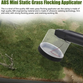 Flocking Kit Static Grass Applicator ABS Mini Flocking Machine with Antislip Handle for DIY Scenic Modelling Sand Table