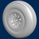 Generic USAF WWII aircraft wheels (set of 2)