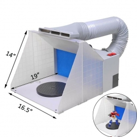 LED light portable spray booth foldable