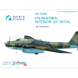 Pe-8/TB-7 3D-Printed & coloured Interior on decal paper (for 7264, 7291 Zvezda kit)
