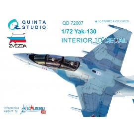 Yak-130 3D-Printed & coloured Interior on decal paper (for Zvezda kit)