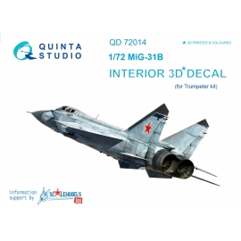 MiG-31B 3D-Printed & coloured Interior on decal paper (for Trumpeter kit)