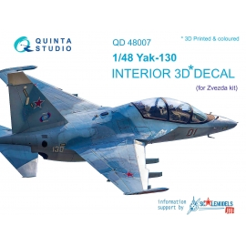 Yak-130 3D-Printed & coloured Interior on decal paper (for Zvezda kits)