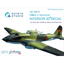 IL-2 3D-Printed & coloured Interior on decal paper (for Accurate/Italeri/Academy/Eduard kits)