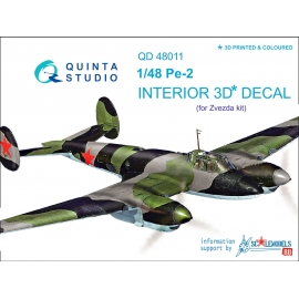 Pe-2 3D-Printed & coloured Interior on decal paper (for Zvezda kits)