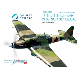 IL-2 3D-Printed & coloured Interior on decal paper (for Tamiya kit)