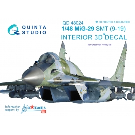 MiG-29 SMT (9-19) 3D-Printed & coloured Interior on decal paper (for GWH kits)
