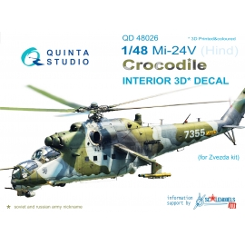 Mi-24V 3D-Printed & coloured Interior on decal paper (for Zvezda kit)
