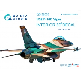 F-16C 3D-Printed & coloured Interior on decal paper (for Tamiya kit)