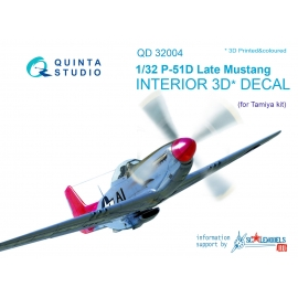 P-51D (Late) 3D-Printed & coloured Interior on decal paper (for Tamiya kit)