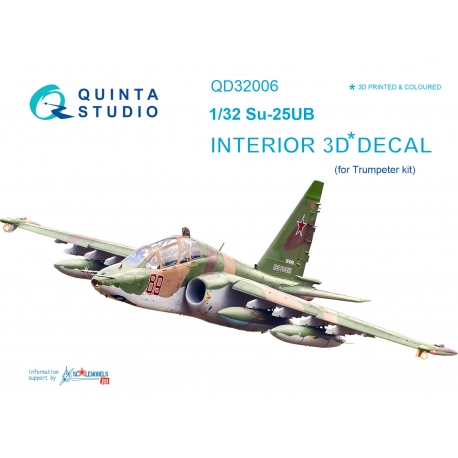 Su-25UB 3D-Printed & coloured Interior on decal paper (for Trumpeter kit)