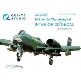 A-10A 3D-Printed & coloured Interior on decal paper (for Trumpeter kit)